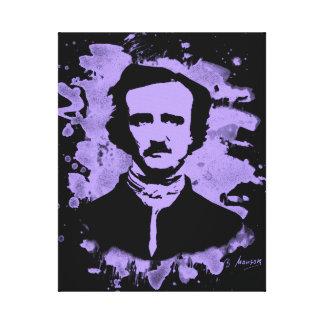 Edgar Allan Poe Tribute (violet) Leinwanddruck