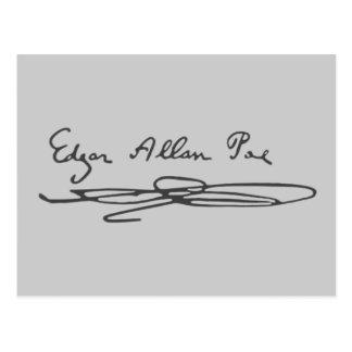 Edgar Allan Poe-Unterzeichnung Postkarte