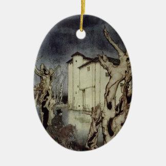 Edgar Allan Poe Usher, der durch Arthur Rackham Keramik Ornament