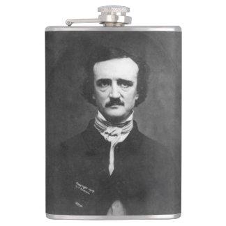 Edgar Allen Poe mit Zitat Flachmann