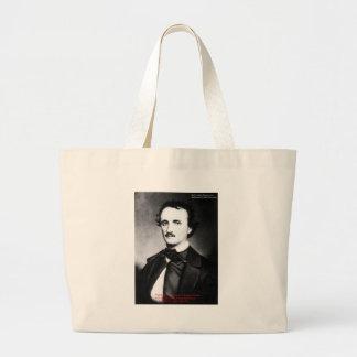 "Edgar Allen Poe ""Religion ist"" Jumbo Stoffbeutel"