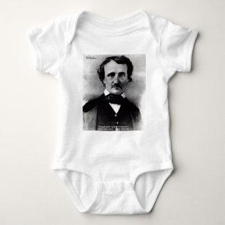 """Edgar Allen Poe """"weinen allein"""" Baby Strampler"""
