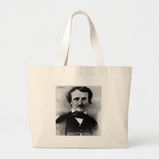 """Edgar Allen Poe """"weinen allein"""" Jumbo Stoffbeutel"""