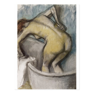 Edgar Degas - Bad-Frau, die zurück 1887 stützt Postkarte