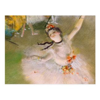 Edgar Degas-Ballerina-Kunst-Postkarte Postkarte