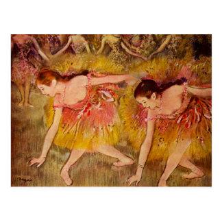 Edgar Degas-Ballerina-Postkarte Postkarte