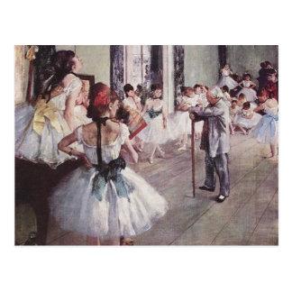 Edgar Degas-Ballett-Lektion Postkarte