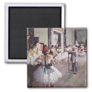 Edgar Degas-Ballett-Lektion Quadratischer Magnet
