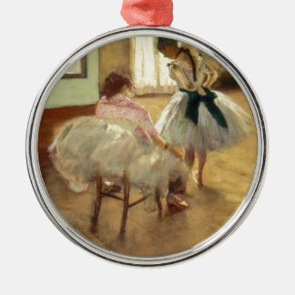 Edgar Degas die Tanzstunde Silbernes Ornament