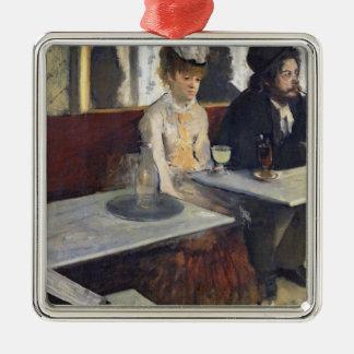 Edgar Degas   in einem Café oder der Wermut Silbernes Ornament