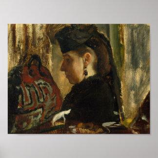 Edgar Degas - Mademoiselle Marie Dihau (1843-1935) Poster