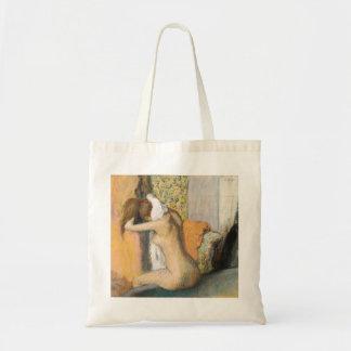 Edgar Degas | nach dem Bad, Frauen-trocknender Tragetasche