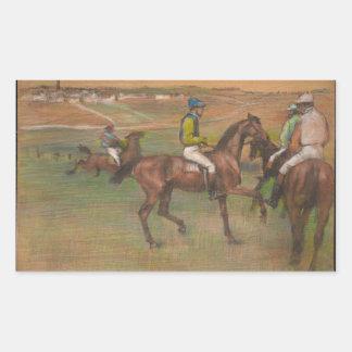 Edgar Degas - Rennpferde Rechteckiger Aufkleber