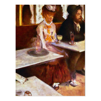 Edgar Degas - Wermut-Trinker Postkarte