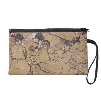 Edgar Degas | zwölf Studien der Frauen im Kostüm Wristlet Handtasche