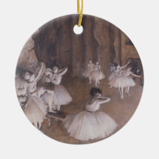 Edgar entgasen | Ballett-Probe auf der Bühne, 1874 Rundes Keramik Ornament