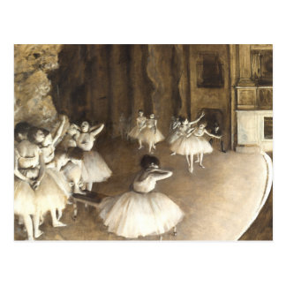 Edgar entgasen | Ballett-Probe Postkarte