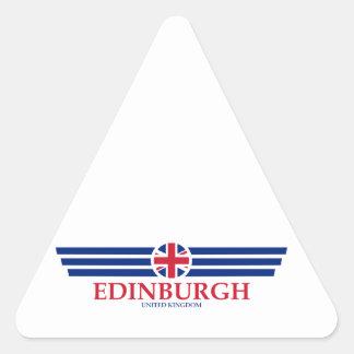 Edinburgh Dreieckiger Aufkleber