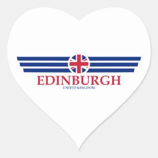 Edinburgh Herz-Aufkleber