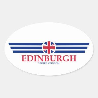 Edinburgh Ovaler Aufkleber