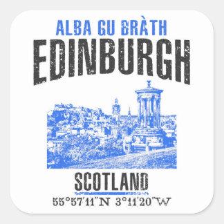 Edinburgh Quadratischer Aufkleber