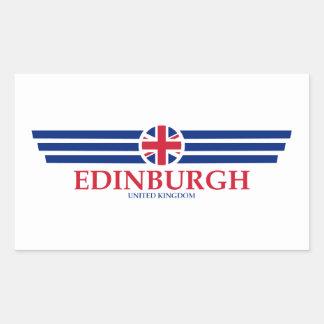 Edinburgh Rechteckiger Aufkleber