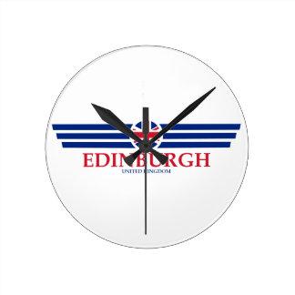 Edinburgh Runde Wanduhr