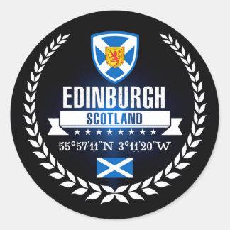 Edinburgh Runder Aufkleber