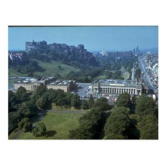 Edinburgh-Schloss im Abstand, Schottland Postkarte