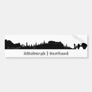 Edinburgh-Skyline Autoaufkleber