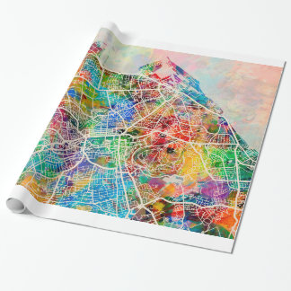 Edinburgh-Stadt-Straßenkarte Geschenkpapier