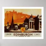 Edinburgh über LNER Schienen-Plakat