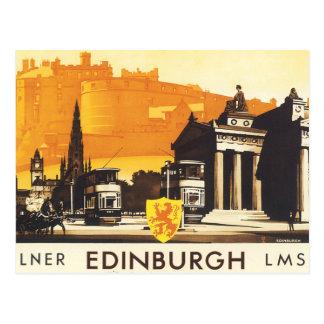 Edinburgh über LNER Schienen-Plakat Postkarten