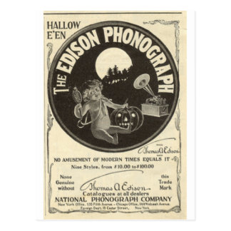 Edison-Plattenspieler Postkarte