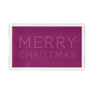 EDITABLE Farbfrohe Weihnacht-Feiertag Acryl Tablett