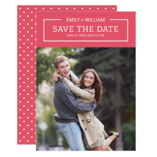 Editable Farbminimalist-Save the Date Foto Karte