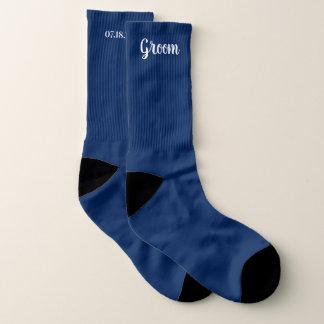 Editable Farbpersonalisierte Bräutigam-Hochzeit Socken