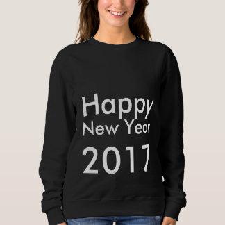 Editable guten Rutsch ins Neue Jahr 2017 Text der Sweatshirt