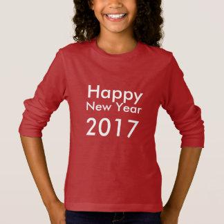 Editable guten Rutsch ins Neue Jahr 2017 Text der T-Shirt