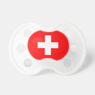Editable Hintergrund, die Flagge von der Schweiz Baby Schnuller