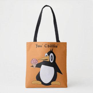 Editable Percius der Penguin mit Tasche