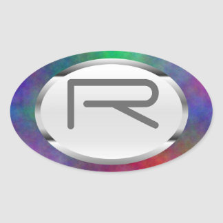 "Editable r-""Garten-Sonnenlicht-"" Ovaler Aufkleber"