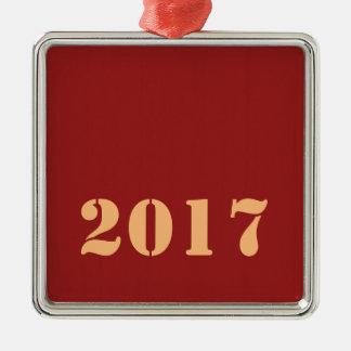 Editable Text der 2017 guten Rutsch ins Neue Silbernes Ornament