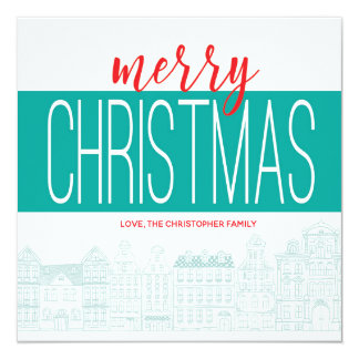 Editable Weihnachtskarte Karte