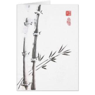 Edle leere Bambuskarte Karte
