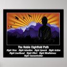 Edler achtfacher Weg Buddha Poster