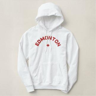 EdmontonHoodie - rotes Kanada-Ahornblatt Bestickter Hoodie