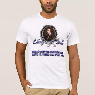 Edmund Burke auf dem Glauben an Übel T-Shirt