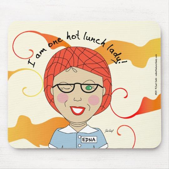 Edna die Mittagessen-Dame Cartoons Mauspad