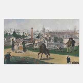 Edouard Manet - Ansicht der universellen Rechteckiger Aufkleber